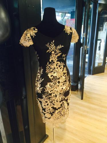 Embroidered Lace Ball Dress